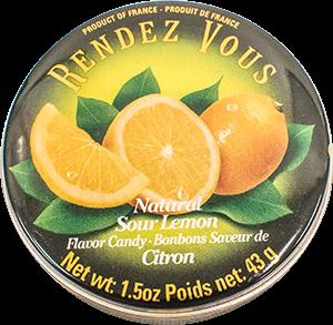Rendez Vous Natural Sour Lemon Candies