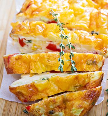 crustless cream cheese quiche
