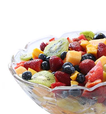 fruit salad spiced syrup