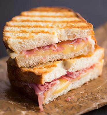ham provolone panini