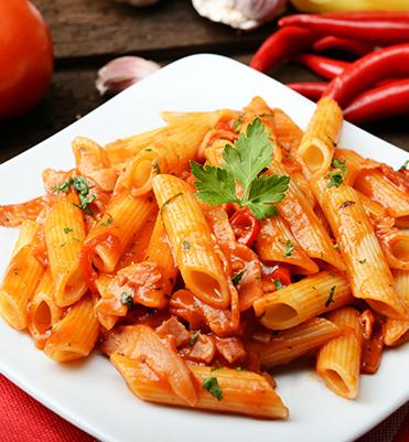 pasta with arrabbiata sauce