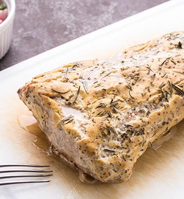 mustard herb pork loin