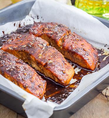 Honey Hoisin Glazed Salmon