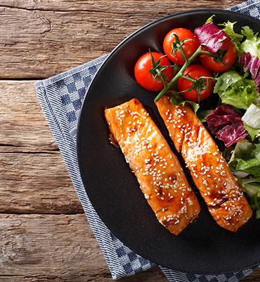 sweet spicy glazed salmon